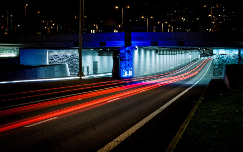 Trafik i Göatunnel i Göteborg (fotokredd: Marcus Österberg Tavelin)