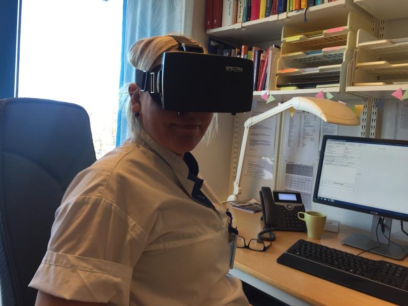 Att titta på en inspelad VR-film