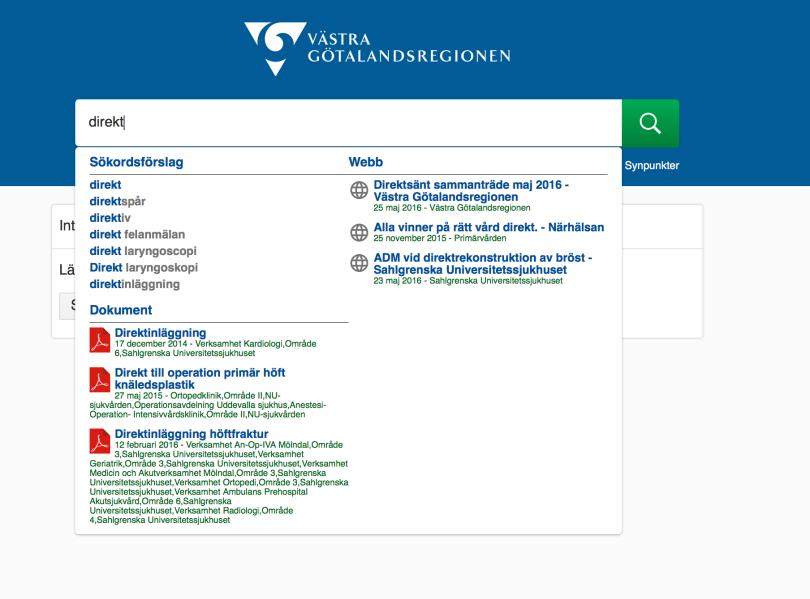 Sökordsförslag och query completion nu i regionens sökmotor