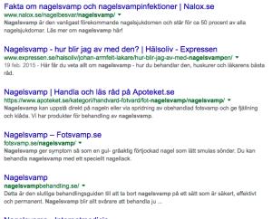 Nagelsvamp enligt Google