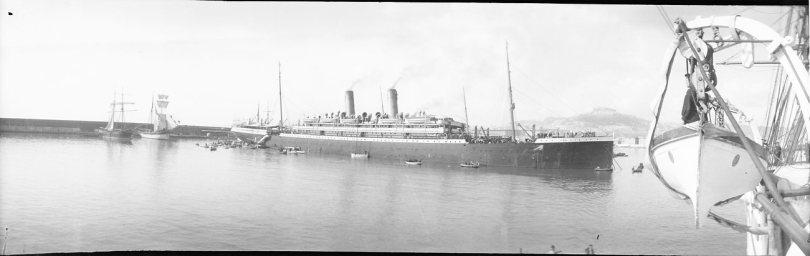 Skepp, bild taget 1900 (Tekniska museet, flickr, licens cc-by)