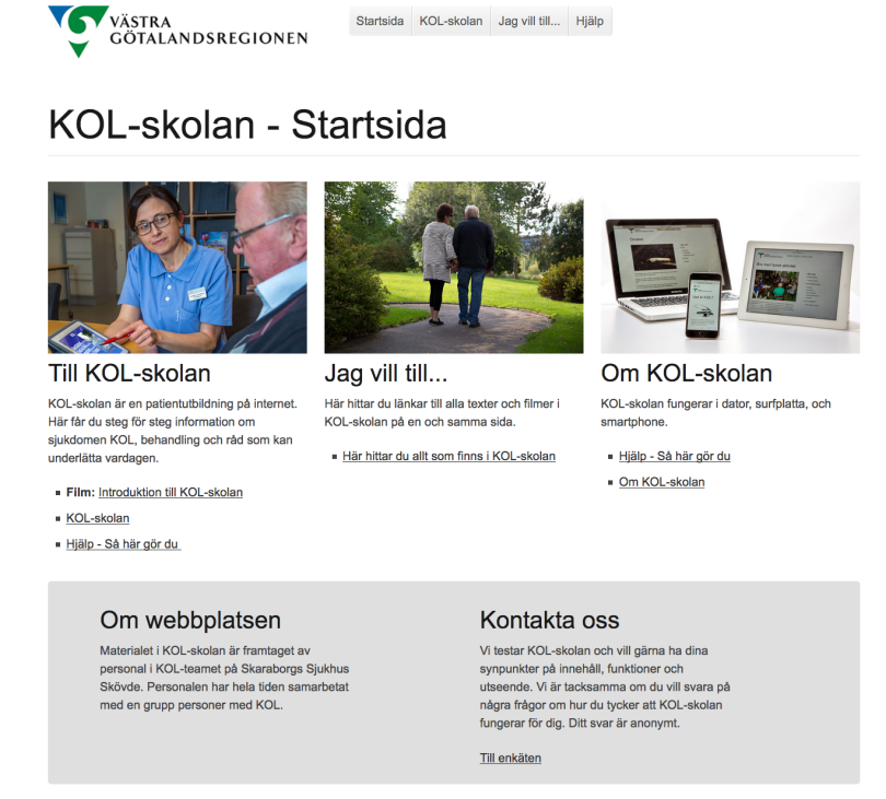 Patientutbildningen KOL-skolan - för KOL-patienter