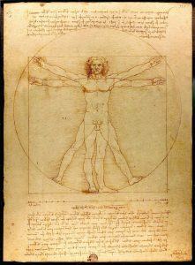 Leonardo da Vinci illustration Vitruvian Man