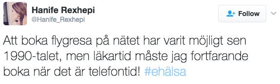 Hanife på Twitter